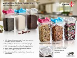 Multipurpose Air- Tight Containers With Easy Lock Lid