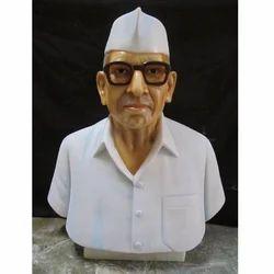 White Makrana Marble Bust Statue