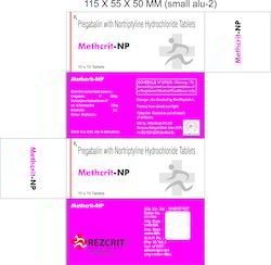 Pregabalin Nortriptyline HCL Tablets