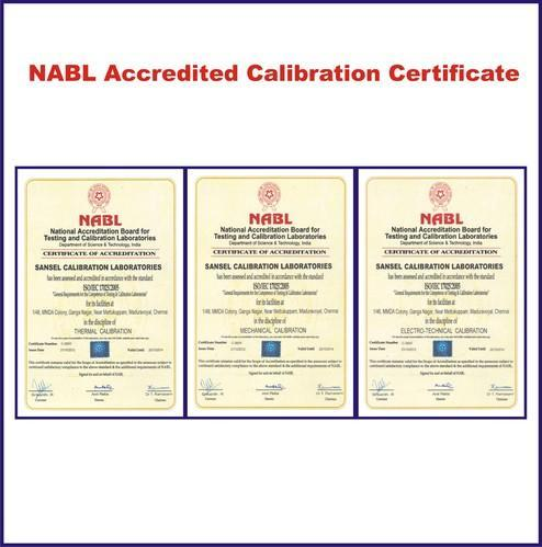 NABL Certificate for Calibration