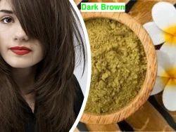 Halal Certified Natural Hair Dye Dark Brown Henna