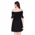 Black One Piece Short Dress