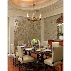 Classy Dining Room Wallpaper