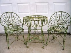 Wrought Iron Chair And Table