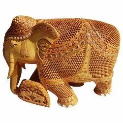 Wooden Undercut Work Elephant