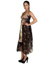Art Silk Floral Printed Free Size Ladies Designer Dress
