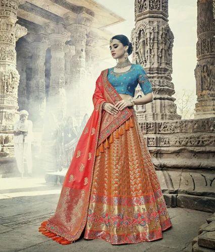 ff05314302 Wedding lehengas - Heavy Bridal Silk Lehenga Manufacturer from Surat