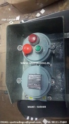Flameproof Push Button with FRP Canopy & Indicator
