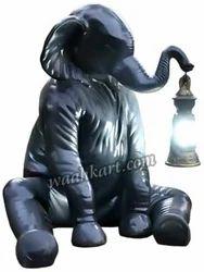 Sitting Elephant Statue With Lantern