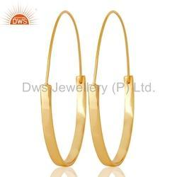 Handmade 925 Silver Hoop Earrings