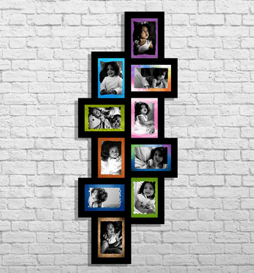 Wooden Collage - 10 Photos Collage Frame Service Provider from ...