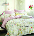 Dove House Bed Sheet Rosepetal