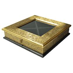 Wooden Dry Fruit Box With Brass Work