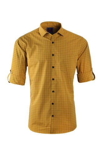 Manufacturer of slim fit cotton casual shirt blue for Linen shirts for mens in chennai