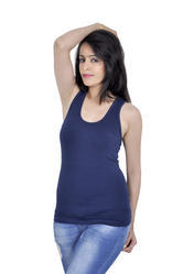 Letizia Blue Racer Back Tank Top