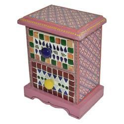 Wooden Drawer With Mosaic Work
