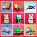 Hand Painted Paper Mache Christmas Ornaments Decorations