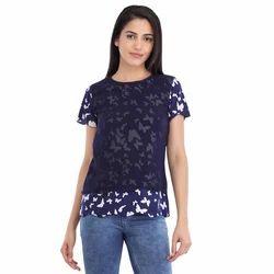 Cottinfab Women's Printed Layered Top