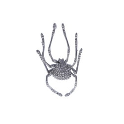Silver Diamond Spider Pendant