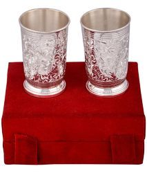 Silver Plated 2 Glass Set