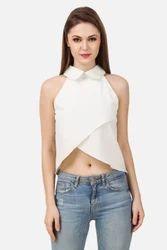 Designer White Solid Top