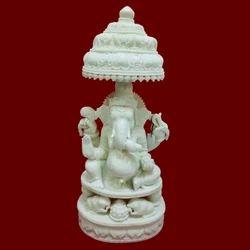 Resin Carving Ganesha Chatari Statue