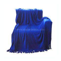 Blue Woven Throw Blanket