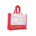 Juteberry Printed Jute Carry Bag
