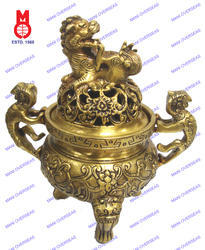 Dhoop Burner W/Lion Handle