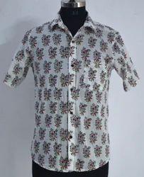 Booti Print Shirt Hand Block Printed Cotton Indain