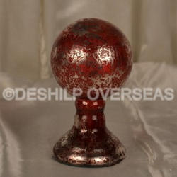 Red Silver Finials