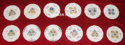 Decorative Round Marble Inlay Plates