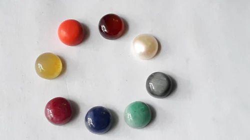 Nine 9 Gems Navaratnas  Navagraha Zodiac Birthstone Round Cabochon Stones