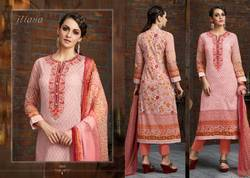 Designer Cotton With Embrodery Suit
