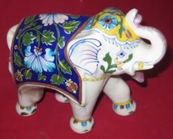 Blue Pottery Elephant