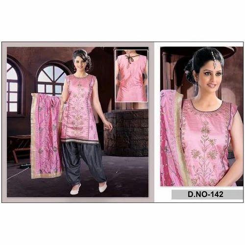 25542d6b70 Ladies Suits - Designer Ladies Silk Suits Manufacturer from Ahmedabad