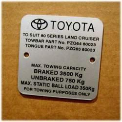 Vehicle Labels