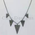 Diamond Triangle Charm Necklace