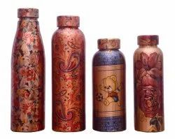 CopperKing Printed Copper Water Bottle