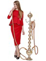 Maharaja Brass Hookah Indian Ethnic Traditional 72 Inch 9kg