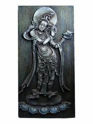 Lord Vishnu Holding Shankh Hanging Painting In 3D
