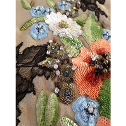 Sequin Flower Embroidery Work