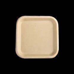 "9"" Sq. Biodegradable Plate"