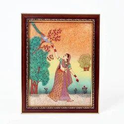 Indian Ethnic Gem Stone Paintings
