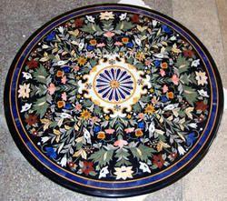 Round Pietra Dura Table Top