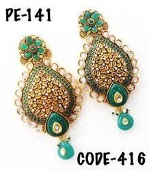 Beautiful Designer Polki Earrings