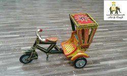 Wooden Rickshaw Miniature Handicraft