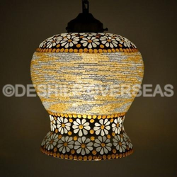 Hanging Glass Mosaic Light