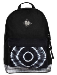 Tie Dye Canvas Backpack With Leather Trims