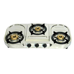 Stainless Steel Three Burner Gas Stove